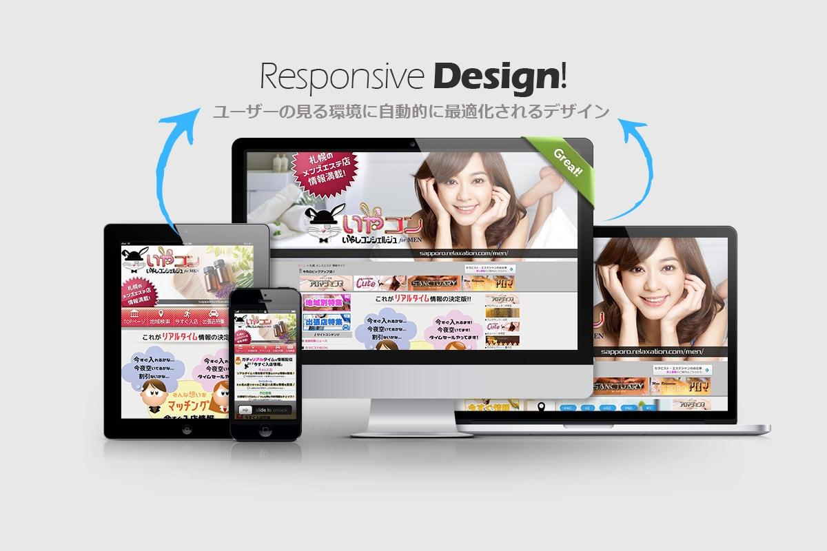 レスポンシブデザイン|イメージ